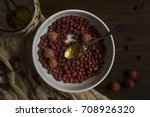 dried berrys hawthorn for... | Shutterstock . vector #708926320