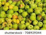 apples on the ground | Shutterstock . vector #708929344
