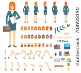 character creation set... | Shutterstock . vector #708933190