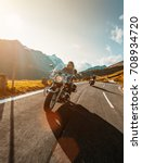 motorcycle driver riding...   Shutterstock . vector #708934720