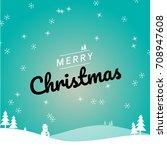 xmas vector template  snowy... | Shutterstock .eps vector #708947608