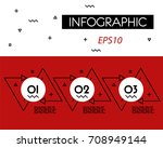 red infographicoutline double... | Shutterstock .eps vector #708949144