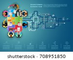 idea concept for business... | Shutterstock .eps vector #708951850