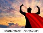 superhero businessman superhero....   Shutterstock . vector #708952084