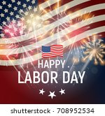 labor day in usa poster... | Shutterstock . vector #708952534