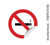 no smoking sign sticker... | Shutterstock .eps vector #708957058
