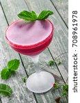 frozen glass of alcoholic...   Shutterstock . vector #708961978