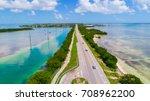 overseas highway to key west...   Shutterstock . vector #708962200