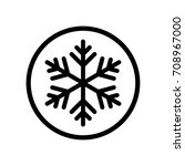 black frozen snowflake sign... | Shutterstock .eps vector #708967000