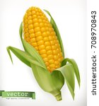 corn cob. 3d vector icon | Shutterstock .eps vector #708970843