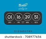 modern electronic countdown... | Shutterstock .eps vector #708977656