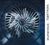 close up of metal fan. inside... | Shutterstock . vector #708979594