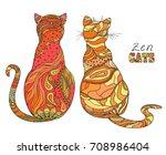 Zen Cats. Design Zentangle....