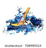 water active recreation.... | Shutterstock . vector #708989314