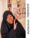 portrait of a muslim girl...   Shutterstock . vector #708993370