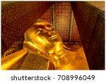 Closeup Golden Buddha Statue...