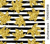 beautiful seamless pattern... | Shutterstock .eps vector #709005958