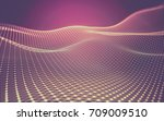abstract polygonal space low... | Shutterstock . vector #709009510