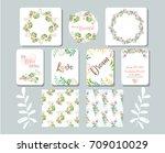 happy birthday card. valentine... | Shutterstock .eps vector #709010029