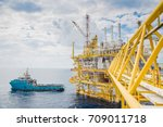 offshore transportation and... | Shutterstock . vector #709011718