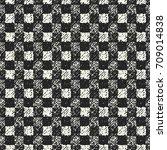 abstract mottled gingham check... | Shutterstock .eps vector #709014838