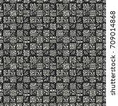abstract mottled checked... | Shutterstock .eps vector #709014868