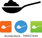 spoonful of ingredients icon | Shutterstock .eps vector #709017634