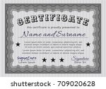 grey diploma or certificate... | Shutterstock .eps vector #709020628