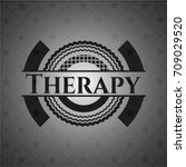 therapy realistic black emblem | Shutterstock .eps vector #709029520