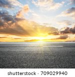 beautiful sky cloud and asphalt ... | Shutterstock . vector #709029940