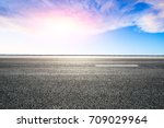 beautiful sky cloud and asphalt ... | Shutterstock . vector #709029964