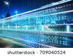 highway flyover with binary... | Shutterstock . vector #709040524
