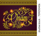 happy onam festival design | Shutterstock .eps vector #709050406