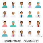 doctors and nurses characters... | Shutterstock .eps vector #709053844