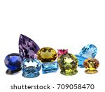 colorful gemstone isolated on... | Shutterstock . vector #709058470