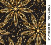 seamless ethnic pattern.... | Shutterstock .eps vector #709062838