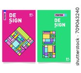 vector covers design set with... | Shutterstock .eps vector #709063240
