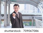 portrait of young asian... | Shutterstock . vector #709067086