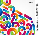 colorful abstract background... | Shutterstock .eps vector #709071298