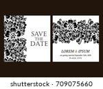 vintage delicate invitation... | Shutterstock .eps vector #709075660