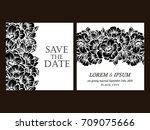vintage delicate invitation... | Shutterstock .eps vector #709075666