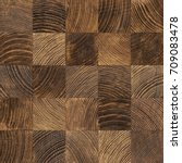 Small photo of Seamless end grain wood texture. Cross cut lumber blocks.