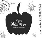 halloween border design vector... | Shutterstock .eps vector #709085269