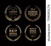 luxury golden badge and labels... | Shutterstock .eps vector #709093174
