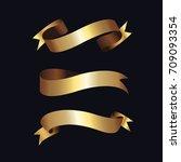 luxury golden badge and labels... | Shutterstock .eps vector #709093354