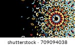 morocco disintegration template.... | Shutterstock .eps vector #709094038