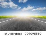 road to future | Shutterstock . vector #709095550