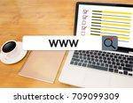 www website online internet web ... | Shutterstock . vector #709099309