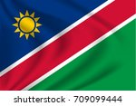 namibia flag background with... | Shutterstock .eps vector #709099444