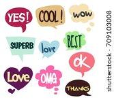 cartoon comic bubble  speech... | Shutterstock .eps vector #709103008